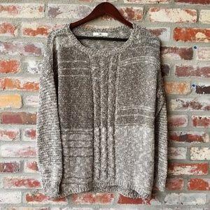 multi color Metallic open knit Sweater size M